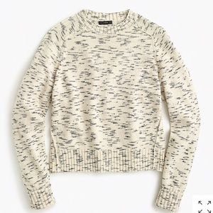 NWT J.Crew Speckled Cotton Sweater
